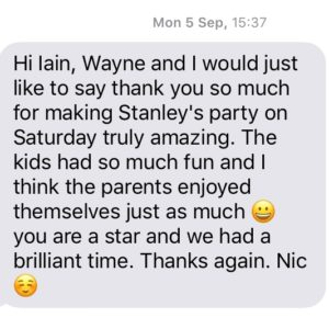 Text testimonial